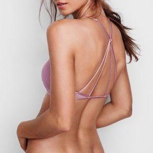 Victoria's Secret Intimates & Sleepwear - Victorias Secret Mesh Front Closure Bralette Mauve
